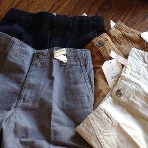 4 pair dress shorts big boy 8 waistband slim